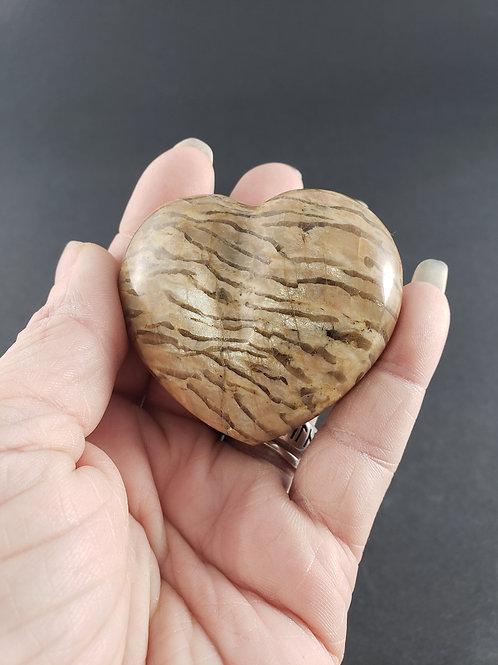 Zebradorite Heart