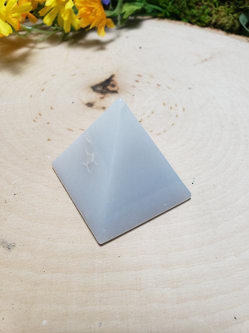 Blue Chalcedony Pyramid