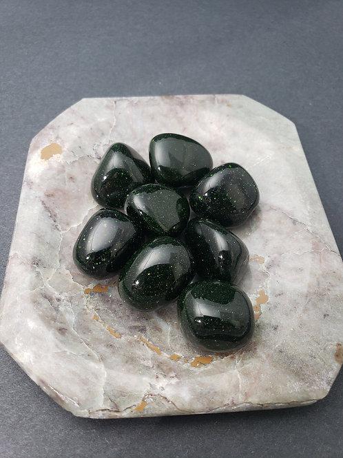 Green Goldstone Tumble