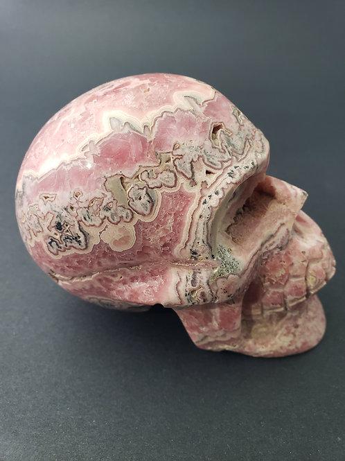 Rhodochrosite Skull