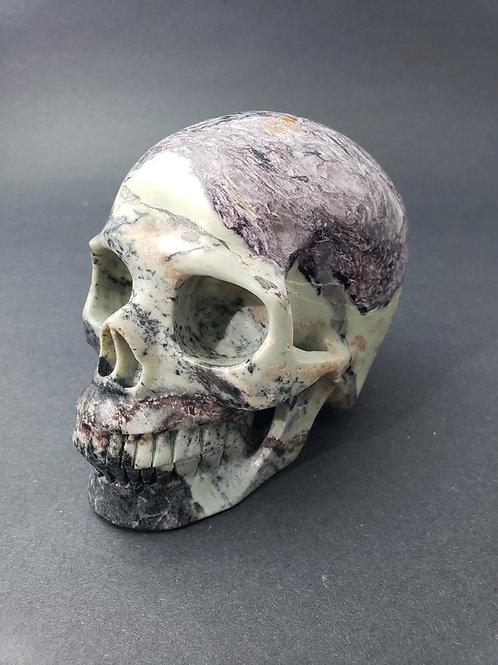 Charoite Skull