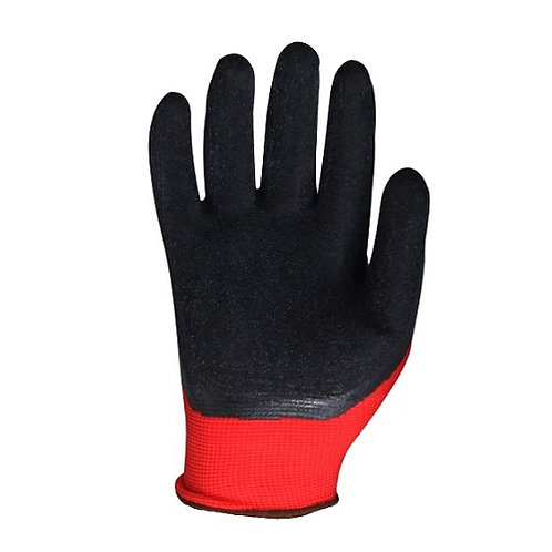 13G seamless knitted Glove coated Crinkled Latex on Palm