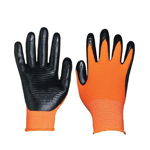 13G U3 Nylon/Polyester Glove coated Nitrile on Palm