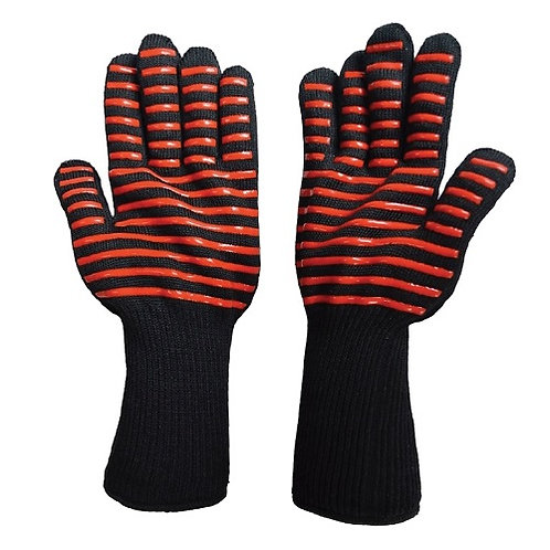 Heat Resistant Glove, heat protection up to 350℃, Silicone Dots on both Sides