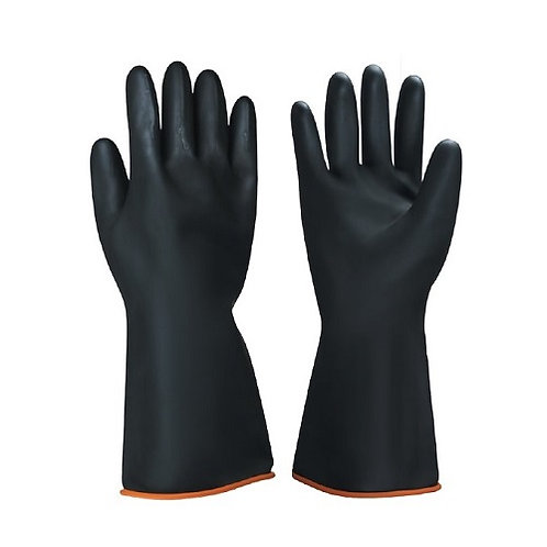 Heavy-Duty Latex Industrial Glove, Smooth Palm