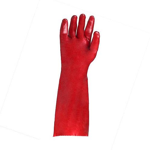 PVC single dipped Glove Interlock Liner Gauntlet
