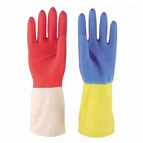 Bi-color Latex Household Glove