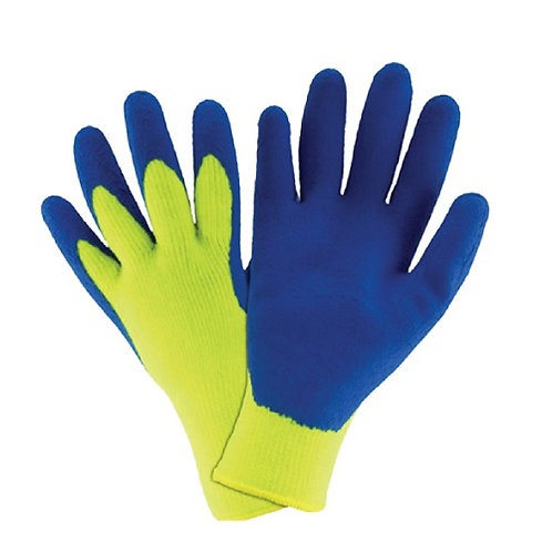 10G Fluorescent Acrylic Glovecoated Latex Foam on Palm, Flock Fleece inside