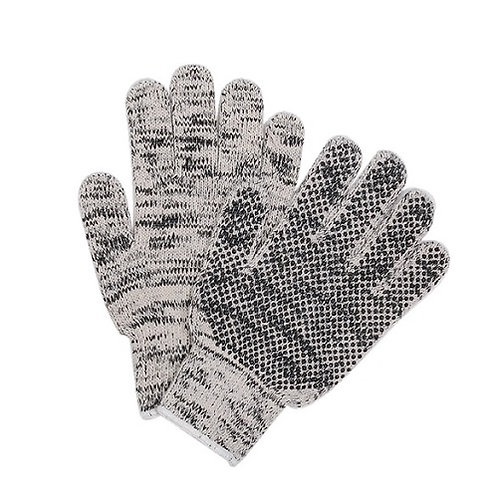 7G 3 threads mixed grey Cotton/Polyester Glove