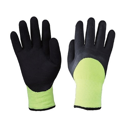 Double Layer Handsewn Cold Resistant Glove coated  3/4 Latex Foam