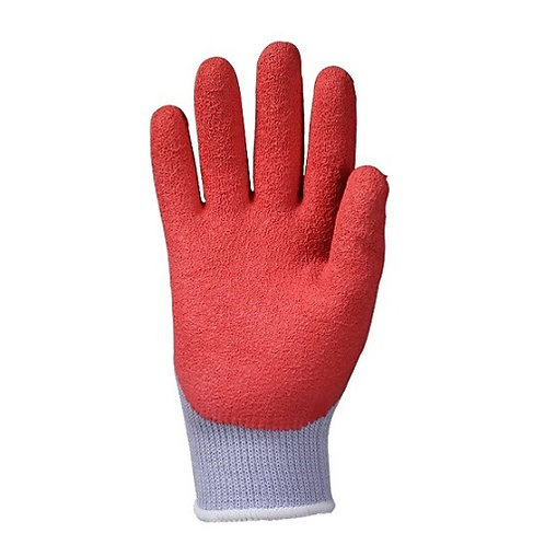 10G Cotton/Polyester Glove coated 3/4 Crinkled Latex