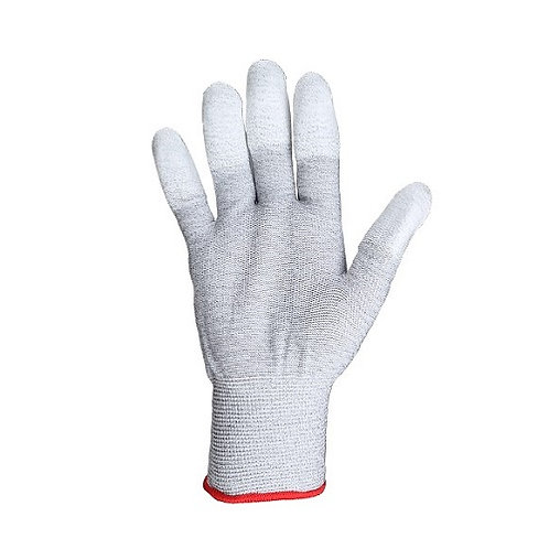 13G U3 Nylon/Carbolic Fiber Glove coated PU on Fingertip