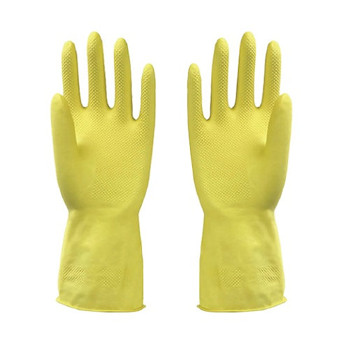 Latex Household Glove Dipped Flocklined