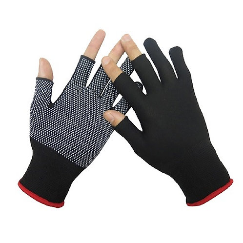 13G Nylon Glove with mini PVC Dots on Palm and 3 fingers cutted