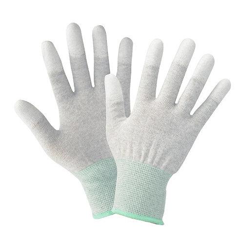 13G Nylon/Carbolic Fiber Glove coated PU on Fingertip