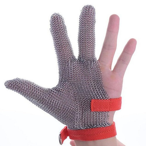 Stainless Steel wire mesh Cut-Resistant Glove, three fingers protective