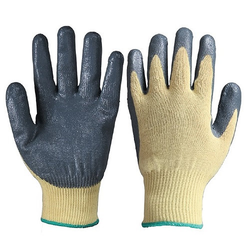 13G Aramid Fiber Anti-Cut Glove coated Nitrile on Palm