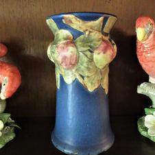 Blue Weller Baldwin Apple Vase (other side)