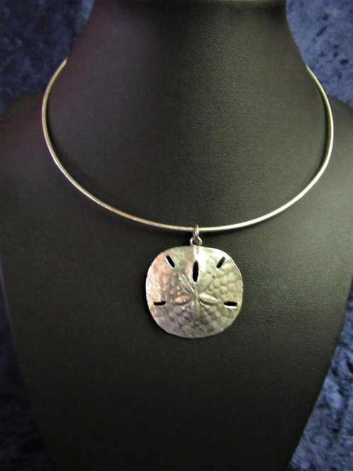 James Avery Sand Dollar on Wire Necklace