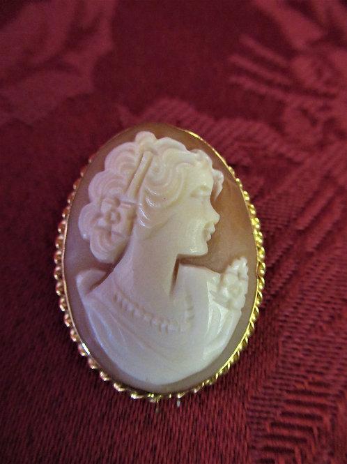 Italian Cameo Pendant and Pin