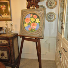 Carved Easel with Tommy Ferrill Original