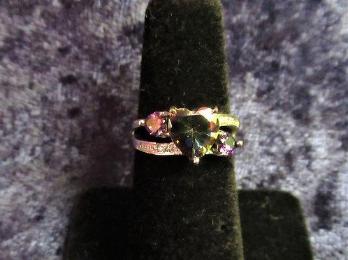 Sterling Silver Mystic Topaz & Amethyst Ring