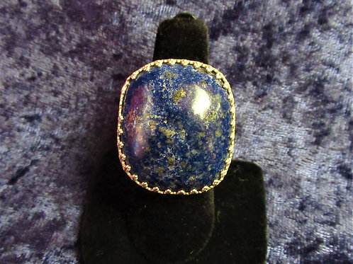 Large Lapis Sterling Silver Ring