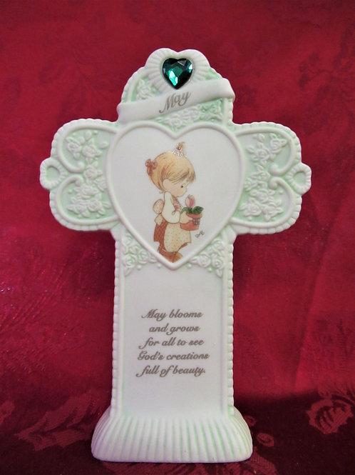 """Precious Moments """"May"""" Birthday Cross"""
