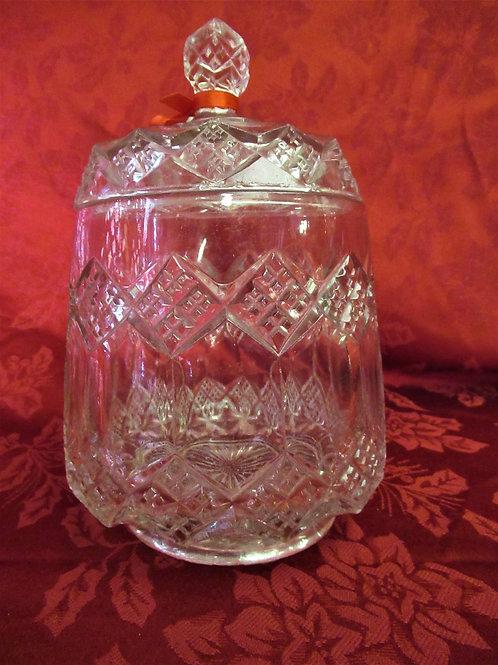 1800's Magnesium Glass Biscuit Jar