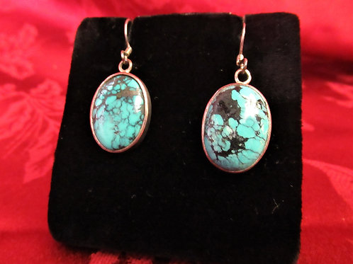 Turquoise in Sterling Earrings