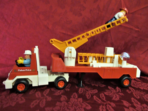 1978 Fisher Price Fire Truck With Two Firemen