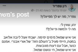Facebook Post: Leftist Voting for Moshe Feiglin