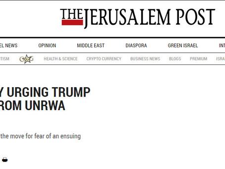 Let's Pray Trump Chokes UNRWA