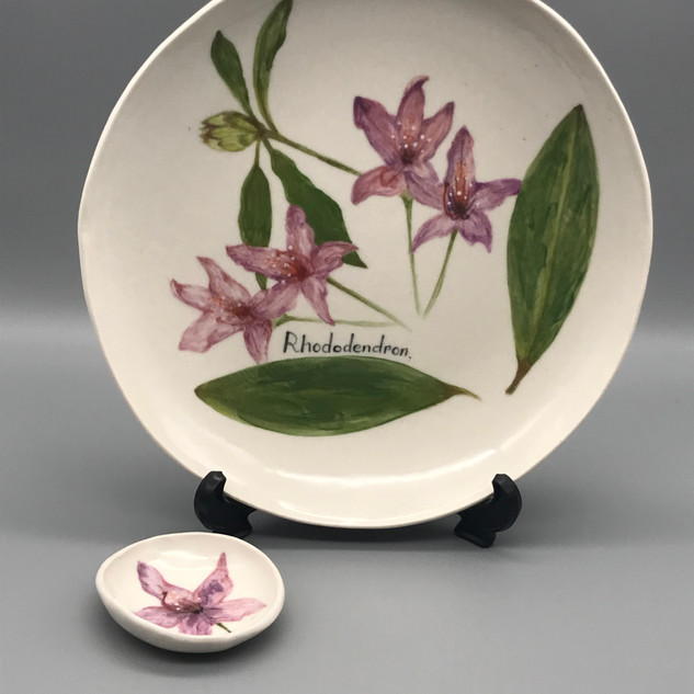 Rhododenron plate