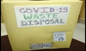 COVID waste disposal system