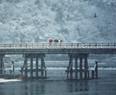 雪の渡月橋