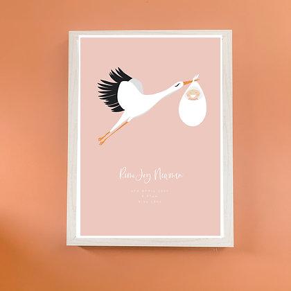 Personalised Stork Print