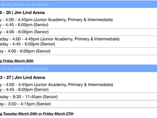 Spring Schedule Now Available