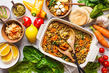 Plant-Based-lentil-curry-with-vegetables,-top-