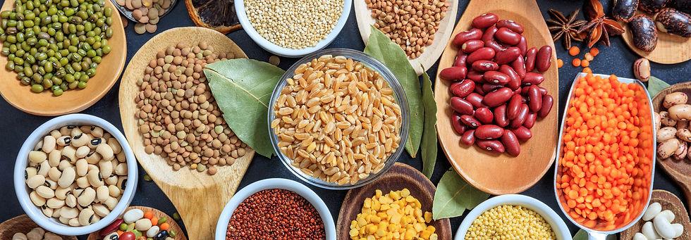 Legumes, peas, lentils
