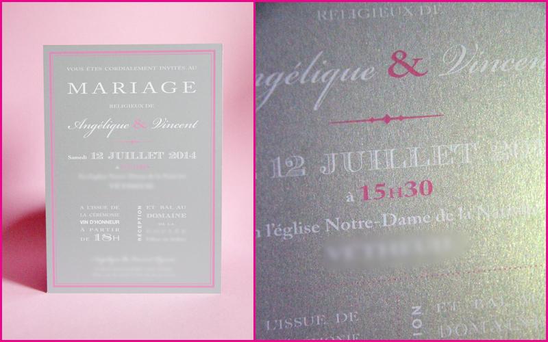 "Faire-part Mariage ""So chic"""