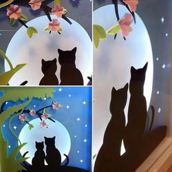 Chats au clair de lune