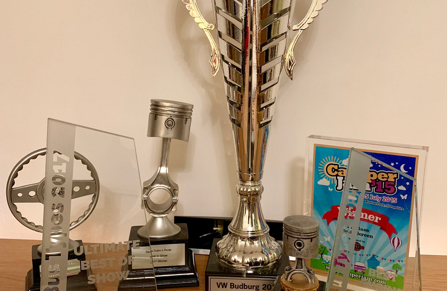 Just some of Phoebe's Trophies
