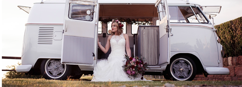 Gorgeous Bride relaxing in our Splitty.PNG