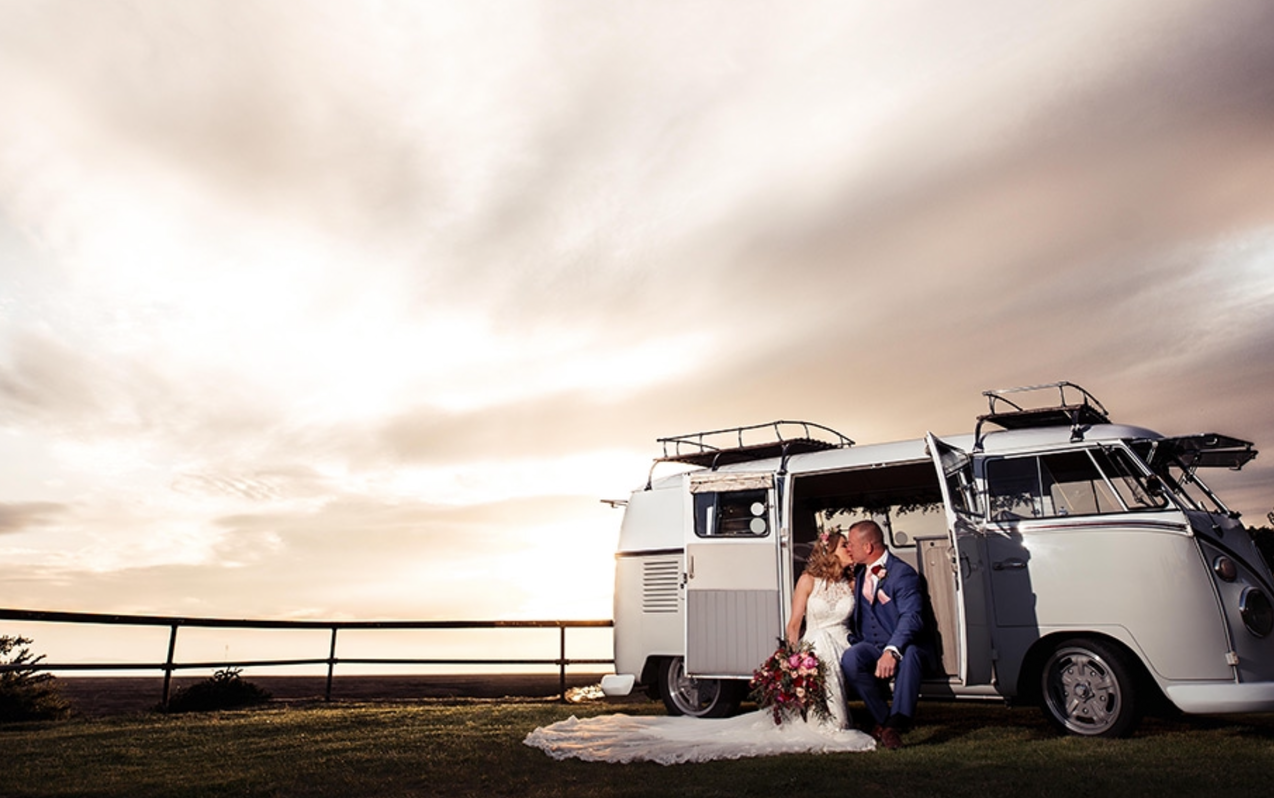 Dramatic Backdrop for our beautiful VW Camper