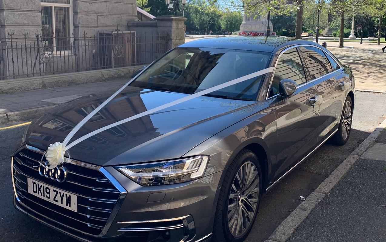 Audi A8L ready for a wedding.JPG