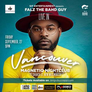 Falz Concert in Vancouver 2019