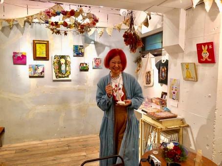 個展「甥っ子の森」開催中。ゆみんぽ会場営業時間中、毎日在廊。