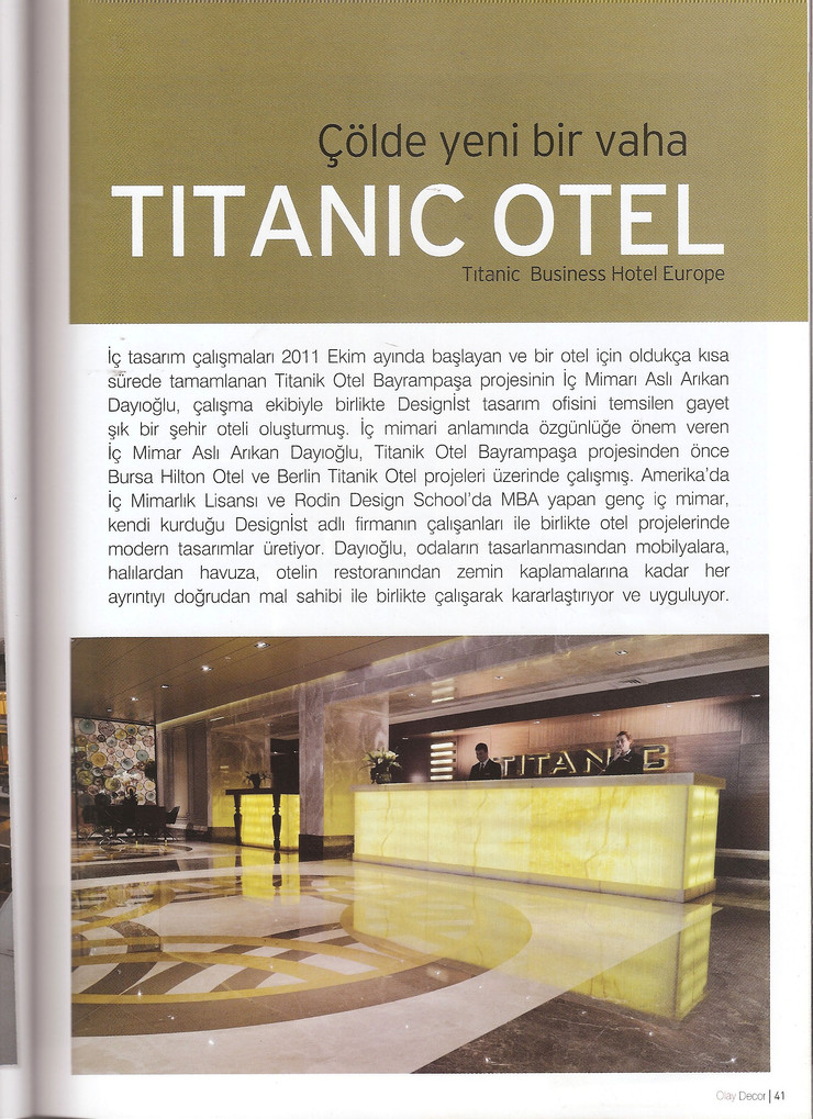 July-August 2015 Titanic Hotel Bayrampasa