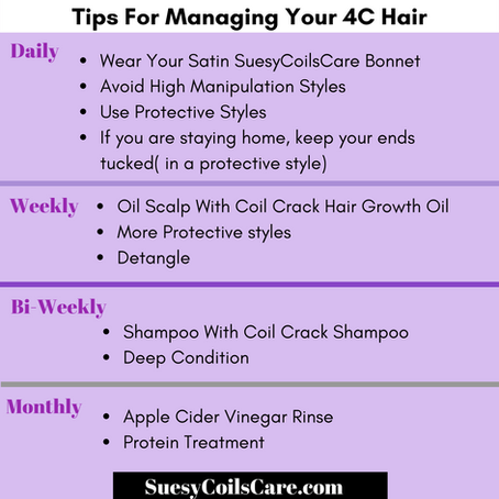 Tips For Managing 4C Hair
